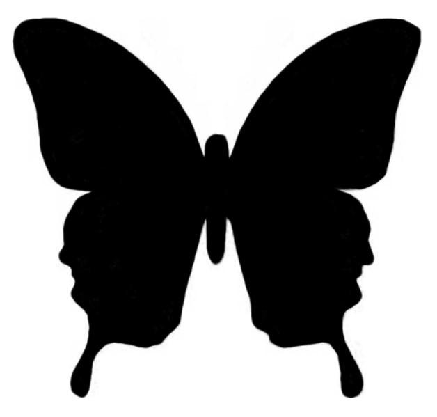 pink butterfly clip art